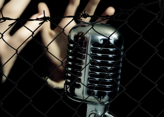 fence-microphone-female-hands-touch-a-womans-hands-a-female-singer-caressing-a-retro-vintage-shiny-microphone-on-the-stage-seen-through-a-fence_vocul1pig__F0000